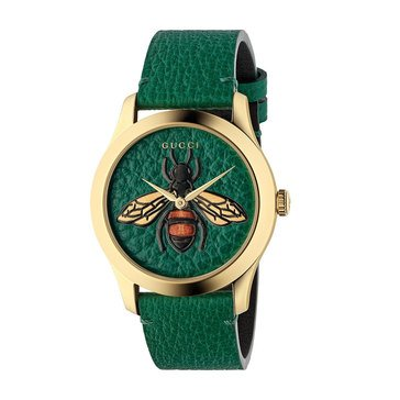Gucci Women's Bee Leather Strap Watch, 38mm