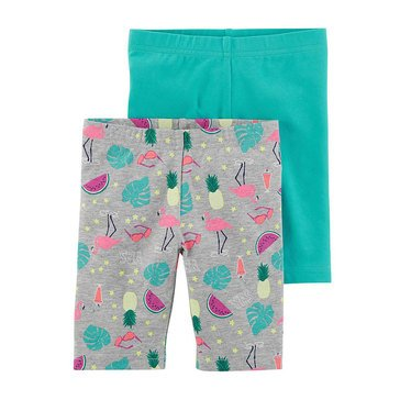 Carter's Little Girls' 2-Pack Bike Shorts