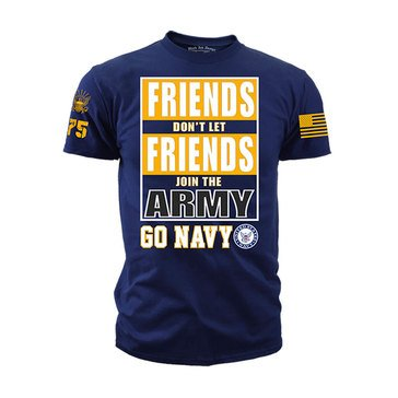 Black Ink Men's USN Friends Don't Let Friends Tee
