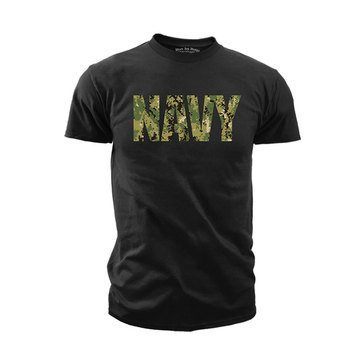 Black Ink Men's USN Type III Camo Tee