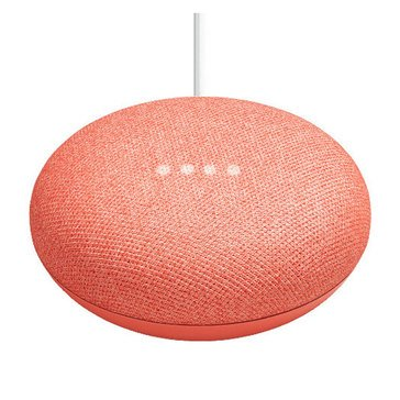 Google Home Mini Smart Assistant, Coral