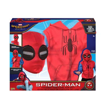 Spider Man Zip Up Hoodie Costume Set