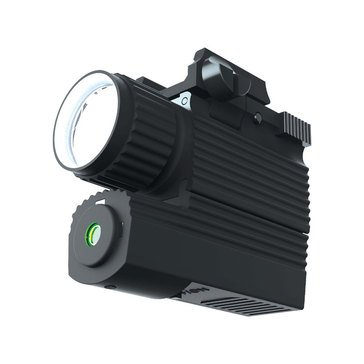 iProtec 190 Lumen Rail-Mounted Firearm Light with Green Laser