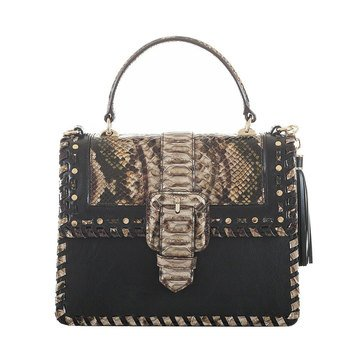 Brahmin Mini Francine Satchel Travertine Ballington