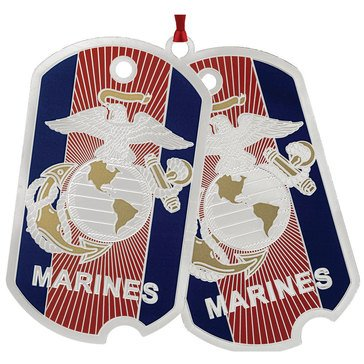 Chemart US Marine Corps Dog Tags Ornament