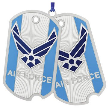 Chemart US Air Force Dog Tags Ornament