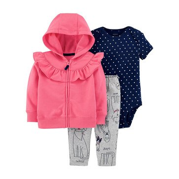 Carter's Baby Girls' 3-Piece Cardigan Set