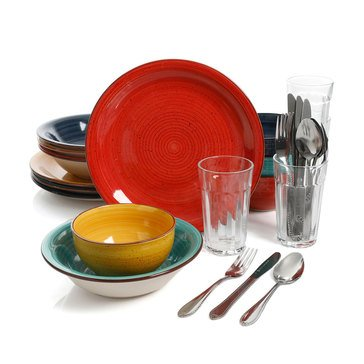 Gibson Speckle 28-Piece Dinnerware Combo Set