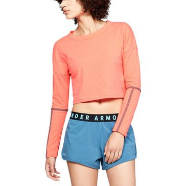 Under Armour Women's Lighter Longer Cropped Crew Top