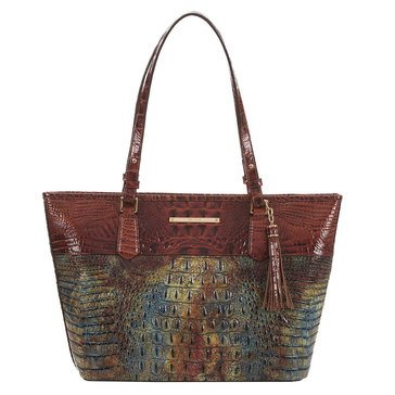 Brahmin Medium Asher Tote Cedar Livingston