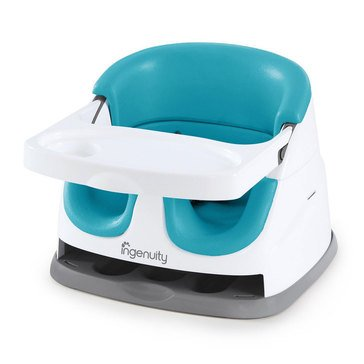 Ingenuity Baby Base Booster Seat, Peacock Blue