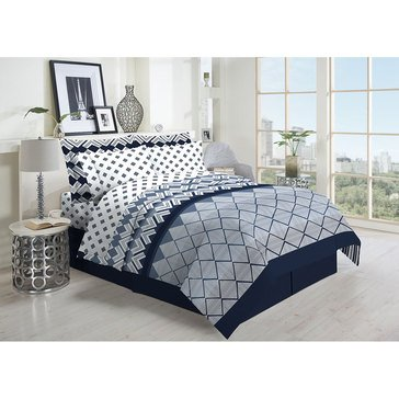 Harbor Home 8-Piece Comforter Set, Silverado Navy - King
