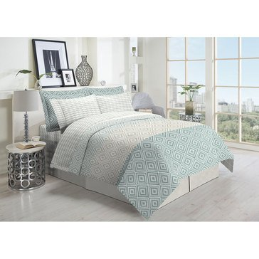 Harbor Home 8-Piece Comforter Set, Diane Seafoam - Full