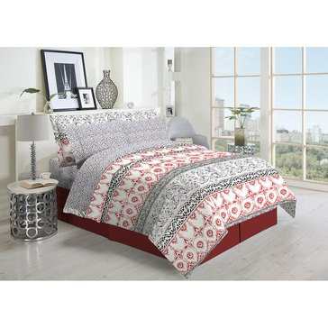 Harbor Home 8-Piece Comforter Set, Capri Brick - Full