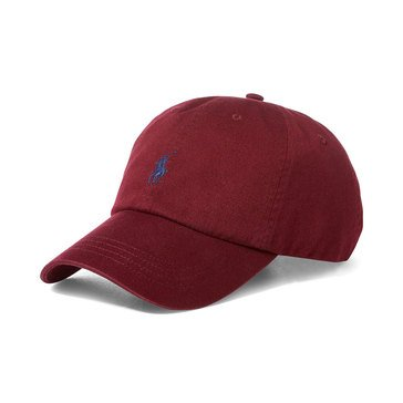 Polo Ralph Lauren Men's Headwear Chino Classic Sport Cap Classic Wine