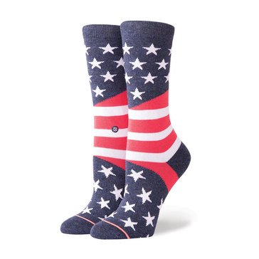 Stance Women's Come Together Tomboy Lite Socks in Blue