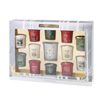 Yankee Candle 12-Piece Happy Holiday Sampler Votive Set