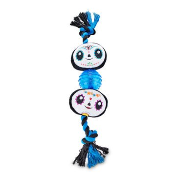 Petco Halloween Skeleton LED Ball On A Rope Toy