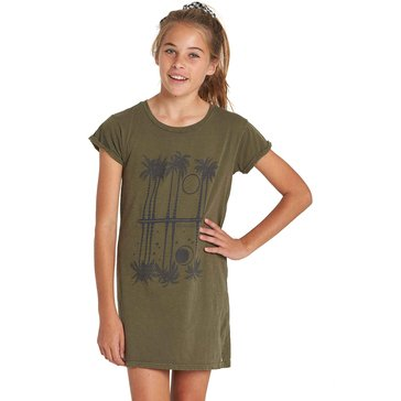 Billabong Big Girls' Last Quarter Tee Dress, Seagrass