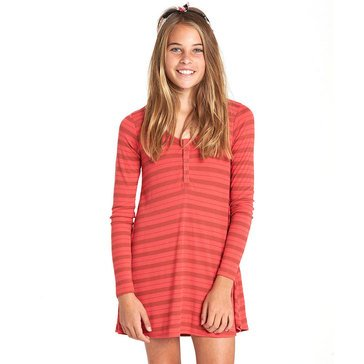 Billabong Big Girls' My Time Rib Knit Dress, Geranium