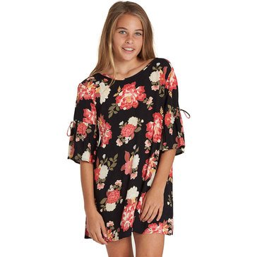 Billabong Big Girls' Always On Vacation Woven Dress, Black