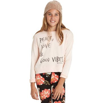 Billabong Big Girls' Luna Daze French Terry Top, Peony