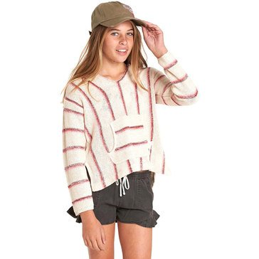 Billabong Big Girls' Baja Cove Hoodie, Cream