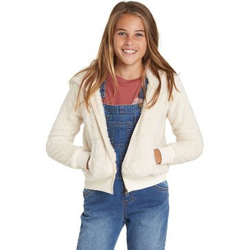 Billabong Big Girls' Cozy Town Zip Polar Fleece, Cream