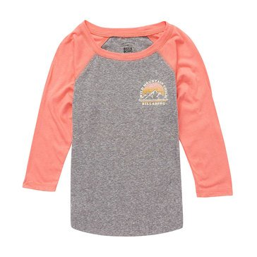 Billabong Big Girls' Wild Mountain Child Tee, Grapefruit