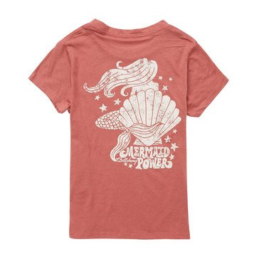 Billabong Big Girls' Mermaid Power Tee, Sienna