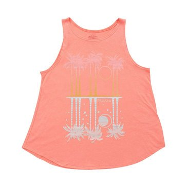 Billabong Big Girls' Ocean View Swing Tank, Grapefruit