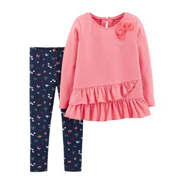 Carter's Baby Girls' 2-Piece Poppy Bow Pant Set