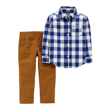 Carter's Baby Boys' 2-Piece Gingham Woven Pant Set