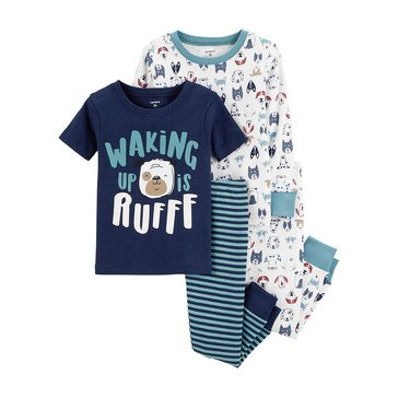 Carter's Baby Boys' 4-Piece Cotton Pajamas Set, Dog