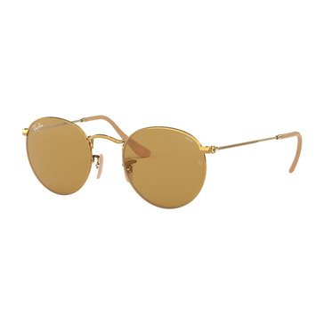 Ray-Ban Men's Round Metal Gold Sunglasses 50mm