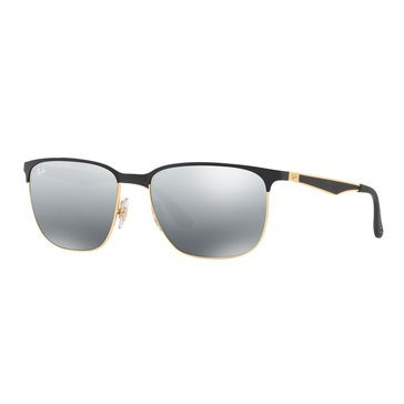 Ray-Ban Unisex Square Gold Top Black Sunglasses 59mm