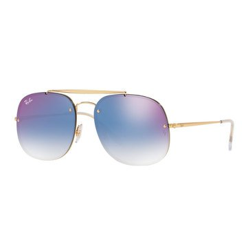 Ray-Ban Unisex Square Gold Sunglasses 58mm