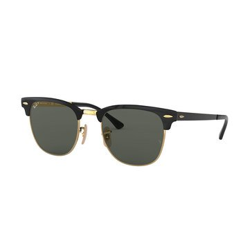 Ray-Ban Unisex Square Gold Top Black Polarized Sunglasses 51mm