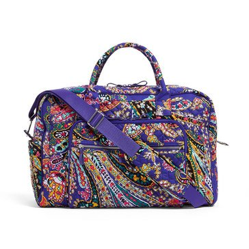 Vera Bradley Iconic Weekender Travel Bag Romantic Paisley