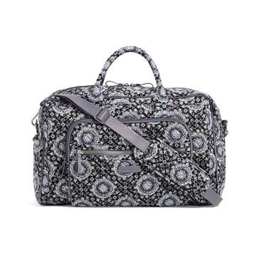 Vera Bradley Iconic Compact Weekender Travel Bag Charcoal Medallion