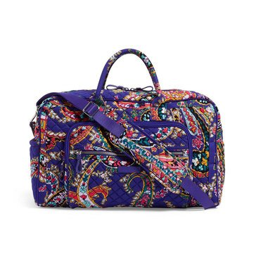 Vera Bradley Iconic Compact Weekender Travel Bag Romantic Paisley