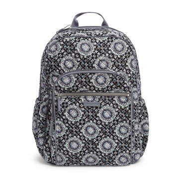 Vera Bradley Iconic Campus Backpack Charcoal Medallion