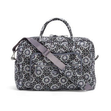 Vera Bradley Iconic Weekender Travel Bag Charcoal Medallion