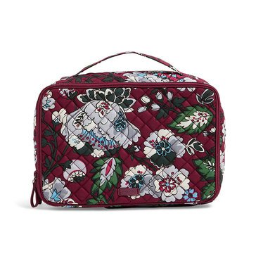 Vera Bradley Iconic Large Blush Case Bordeaux Blooms