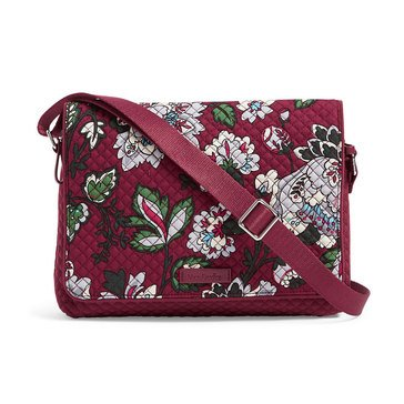 Vera Bradley Iconic Turnabout Crossbody Bordeaux Blooms