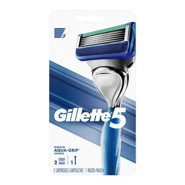 Gillette 5 2-Up Gel Grip Handle