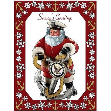 Pure Country USN Woven Santa Throw Blanket