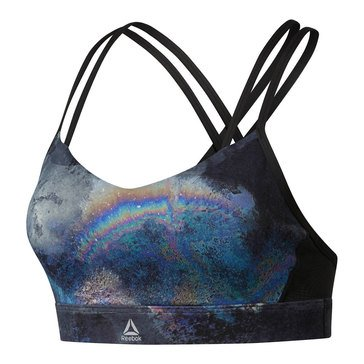 Reebok Women's Hero Strappy Oil Slick Padded Sports Bra
