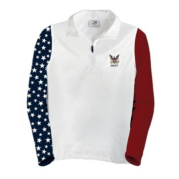 A.E. Sports Men's Patriotic Quarter Zip in White