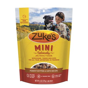 Zukes Natural Mini Peanut Butter Dog Treats